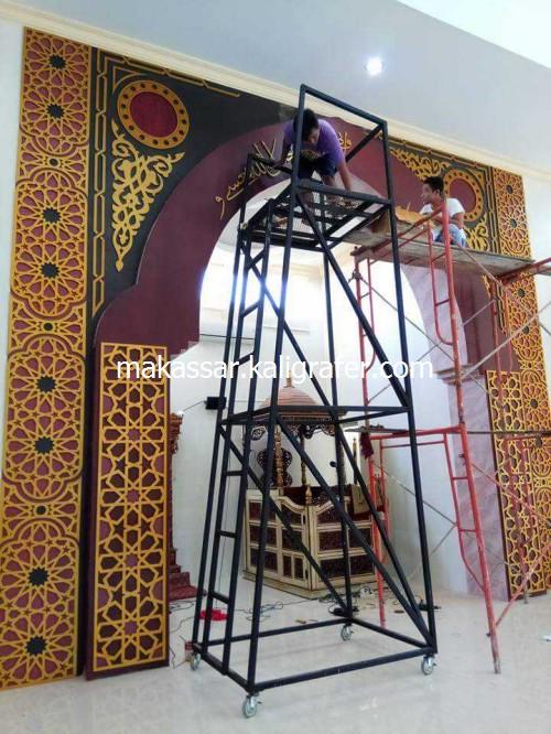 Ornamen Mihrab Masjid MDF Timbul1
