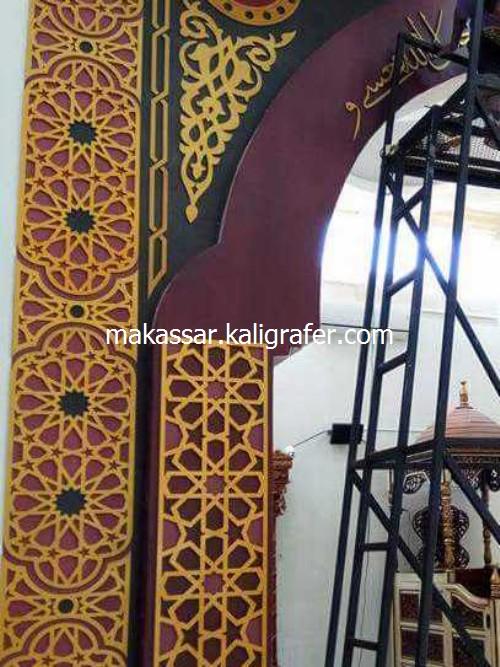 Ornamen Mihrab Masjid MDF Timbul2