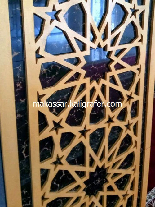 Ornamen Mihrab Masjid MDF Timbul3