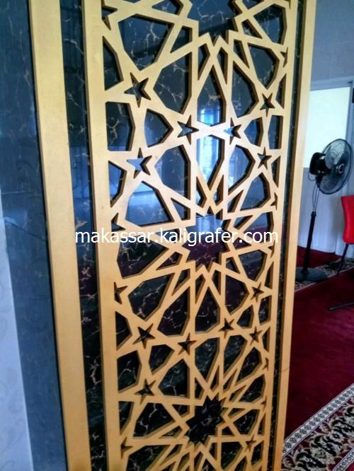 Ornamen Mihrab Masjid MDF Timbul4